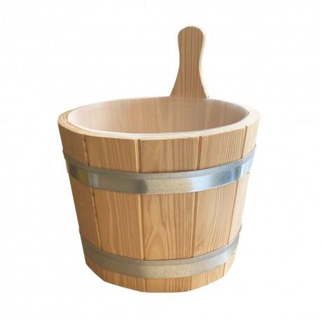 Aufgusskübel für Sauna aus Holz